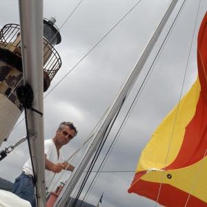 Spi in asciugatura al rientro in porto, Castiglione della Pescaia