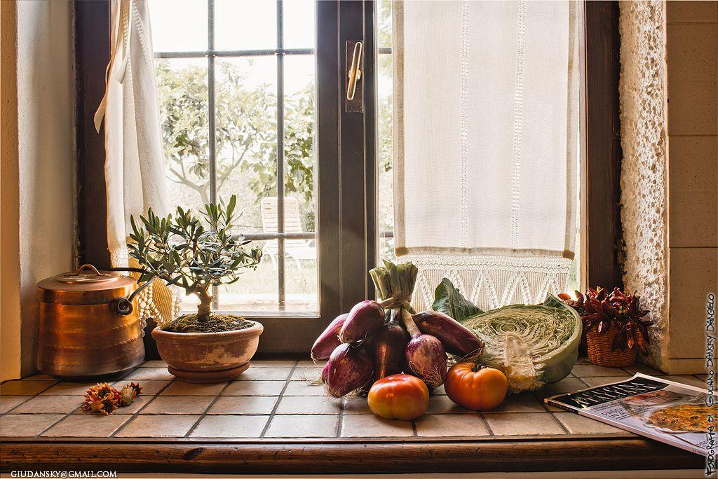 Dettaglio di cucina con ortaggi