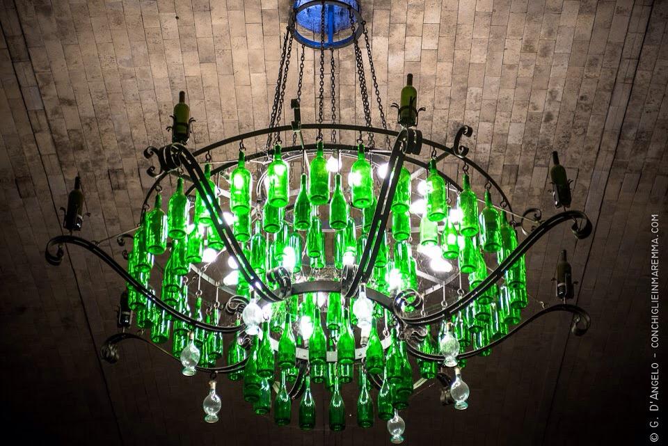 Luce verde bottiglia