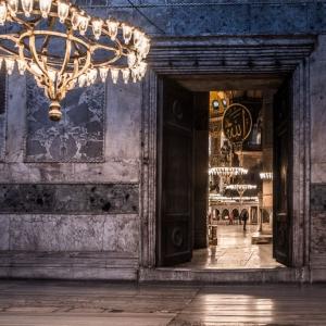 Portale di accesso nel nartece di Hagia Sofia