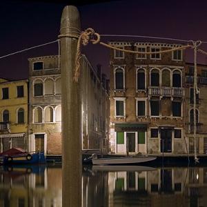 Panoramica su canale di Venezia